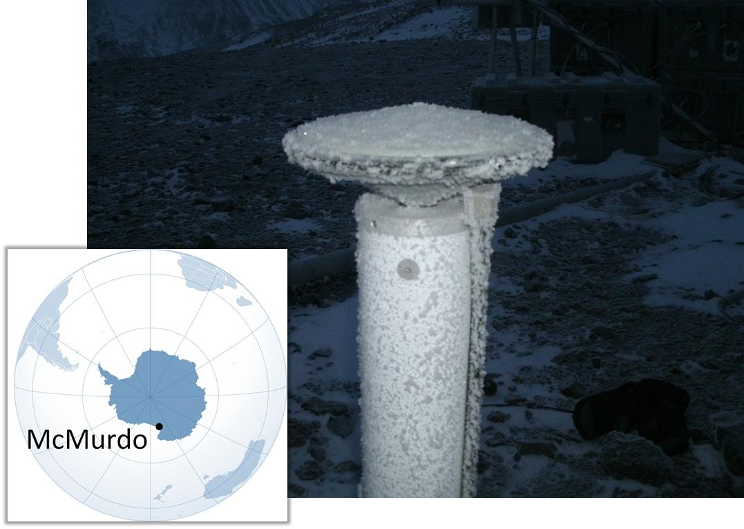 GNSS antenna McMurdo Antarctica PolaRx5