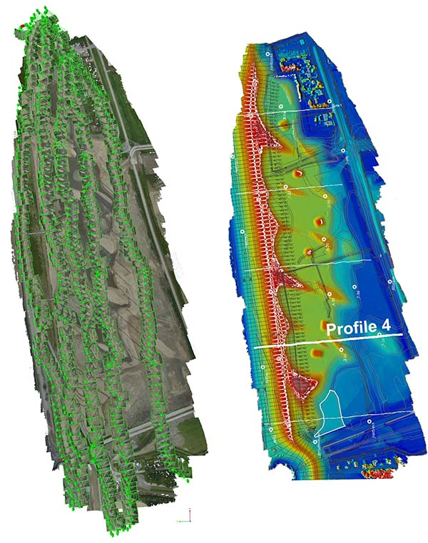 Point Cloud generated by Pix4D