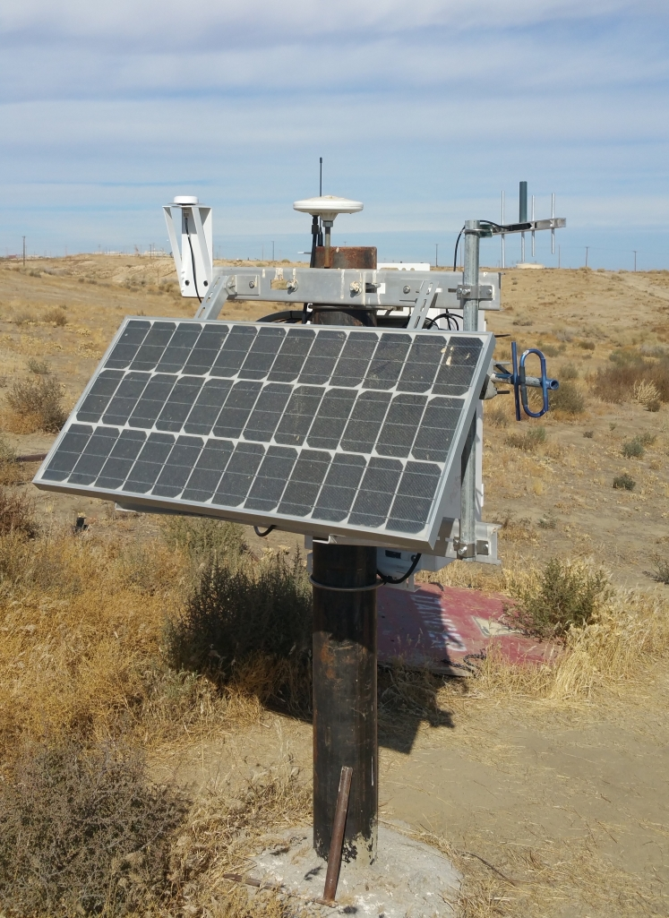 Solar panel GNSS subsidence steam injections