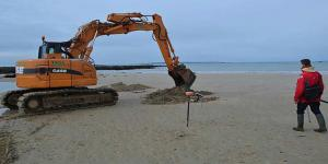 Demining French beach