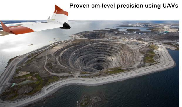 UAV-drone-for-precise-surveying-quarry-without-ground-controlpoints