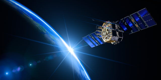 Scientific - GNSS-satellite-in-orbit-earth