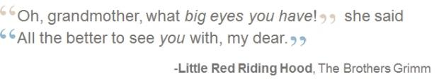Quote Little Red Riding Hood