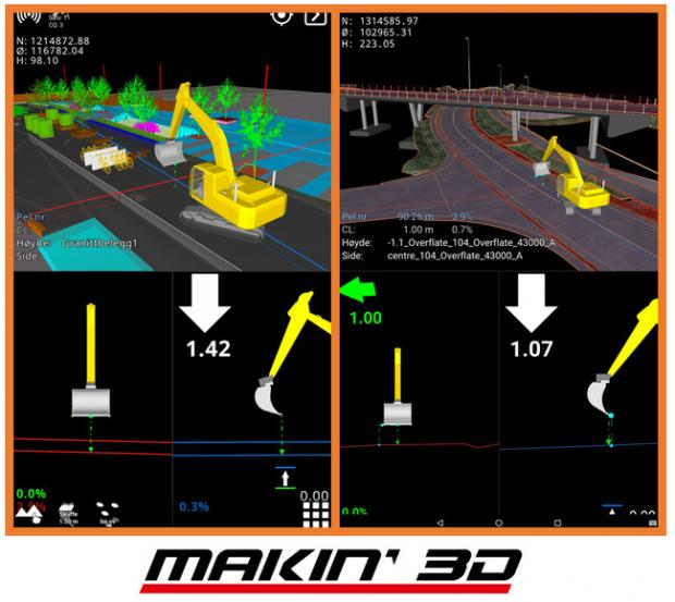Makin3D-excavator-guidance-screen-Septentrio-GNSS-receiver