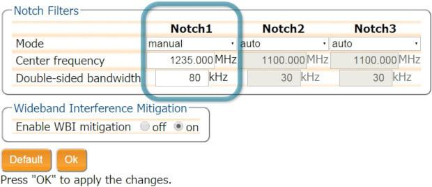 Notch-filter-to-mitigate-GPS-RF-interference